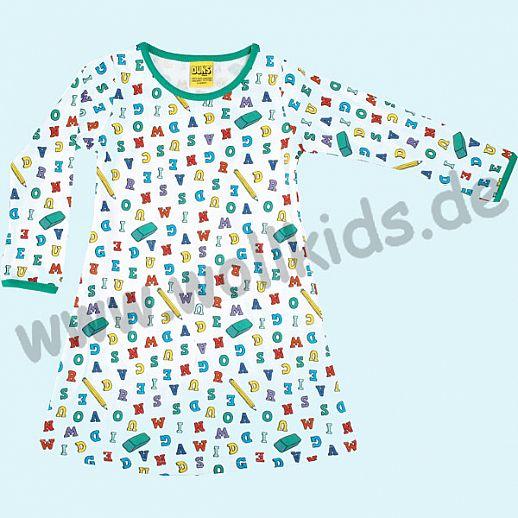 DUNS Sweden: BIO-Baumwolle GOTS - süßes Kleid mit Buchstaben - Back to School ORGANIC