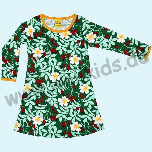 DUNS Sweden: BIO-Baumwolle GOTS - süßes Kleid mit Hagebutten grün - Rosehip green ORGANIC