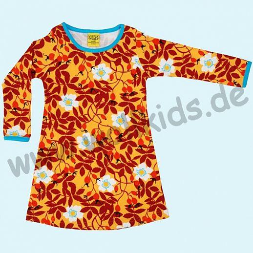 DUNS Sweden: BIO-Baumwolle GOTS - süßes Kleid mit Hagebutten orange - Rosehip mustard ORGANIC