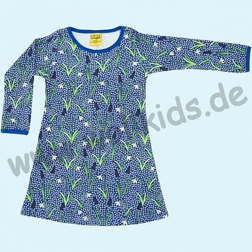 DUNS Sweden: BIO-Baumwolle GOTS - süßes Kleid mit Schneeglöckchen blau - Snow Drops blue ORGANIC