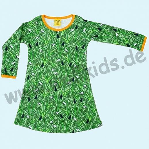 DUNS Sweden: BIO-Baumwolle GOTS - süßes Kleid mit Schneeglöckchen grün - Snow Drops green ORGANIC
