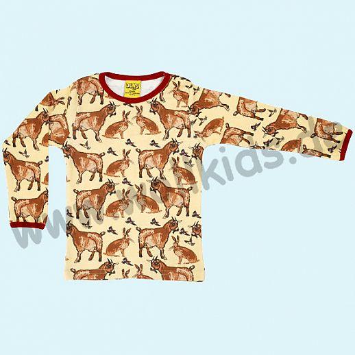 DUNS Sweden: BIO-Baumwolle GOTS Long Sleeve - Langarm Shirt ORGANIC Ziegen & Hasen