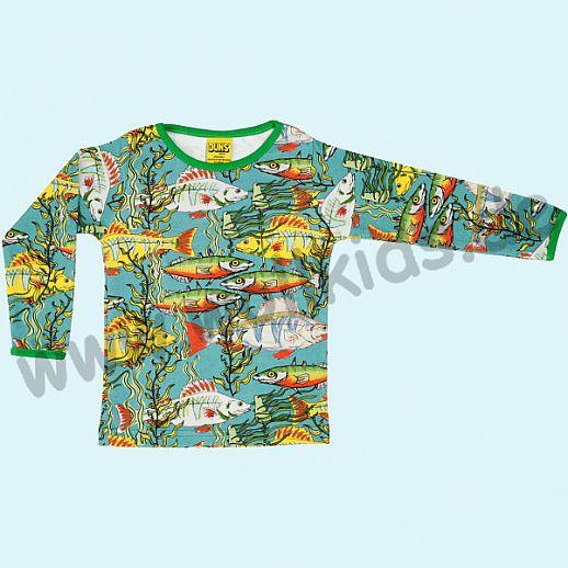 DUNS Sweden: BIO-Baumwolle GOTS Long Sleeve - Langarm Shirt ORGANIC Seaweed Fische