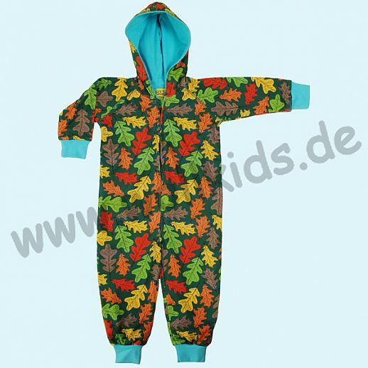 DUNS Sweden: BIO-Baumwolle GOTS Overall Hood Suit ORGANIC Oak Herbst Laub