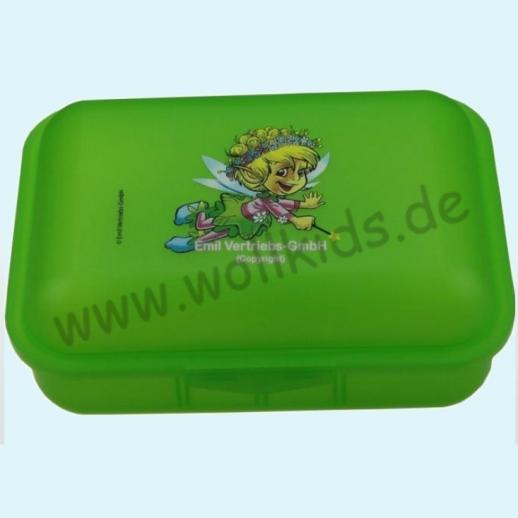Emil die Flasche - Brotdose mit Innenteilung grün Elfe mit Zauberstab