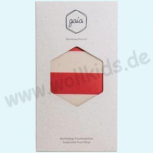 GAIA - Das plastikfreie Bienewachstuch aus natürlichen Rohstoffen - Size: XL - rot-natur