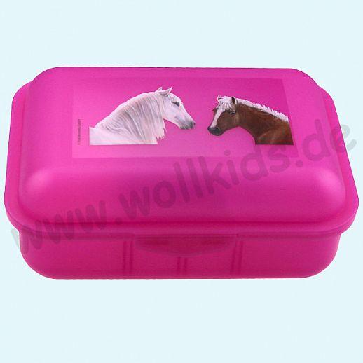 Emil die Flasche - Brotdose mit Innenteilung pink mit Horse love