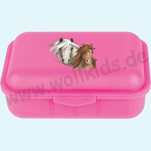 Emil die Flasche - Brotdose mit Innenteilung pink mit Pferden