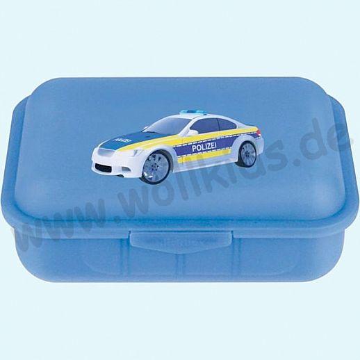 Emil die Flasche - Brotdose mit Innenteilung blau mit Polizei