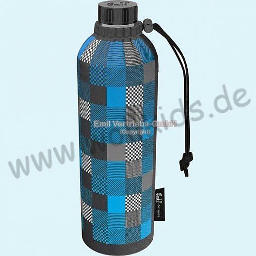 Emil die Flasche - WEITHALS Trinkflasche 0,75l Square blau