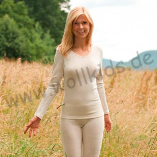 ENGEL: Lange Damen Unterhose - Reine kbT Schurwolle BIO