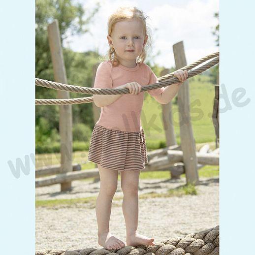 NEU: Engel Baby Body Kleidchen Engel Kurzarm Baby Body mit Röckchen Wolle Seide lachs