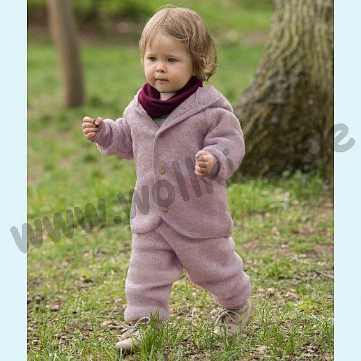 NEU: Engel Wollfleece Kapuzenjacke kbT Merino-Wolle Merinowolle Fleece rosa rosenholz