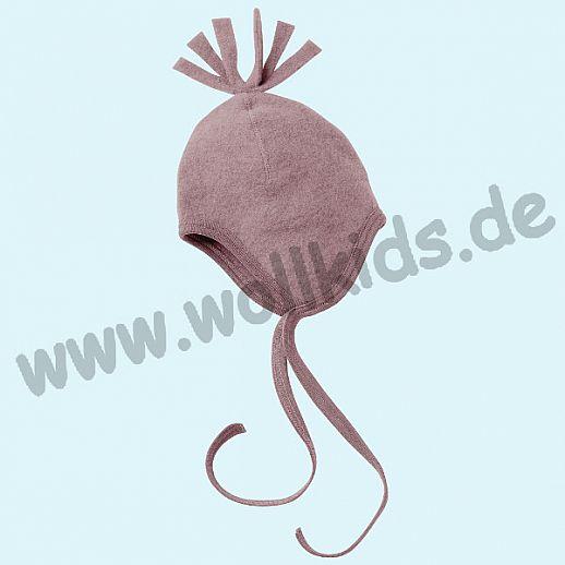 NEU: Engel Wollfleece Mütze kbT Merino-Wolle Merinowolle Fleece rosa rosenholz melange