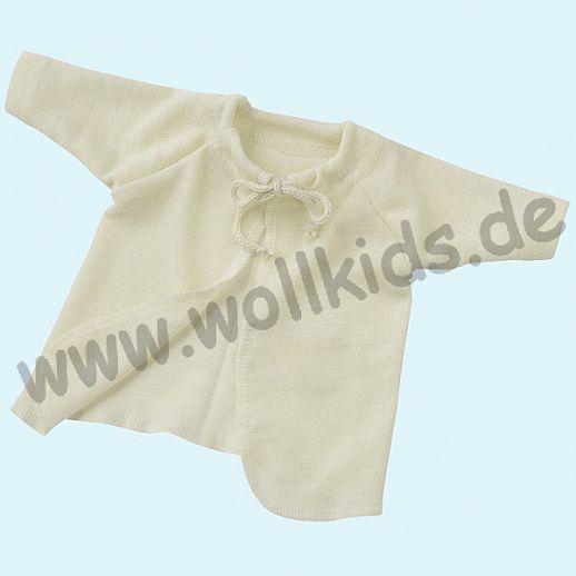 Engel Wickelhemd Flügelhemd Wolle Seide natur - für Neugeborene oder kleine Babys