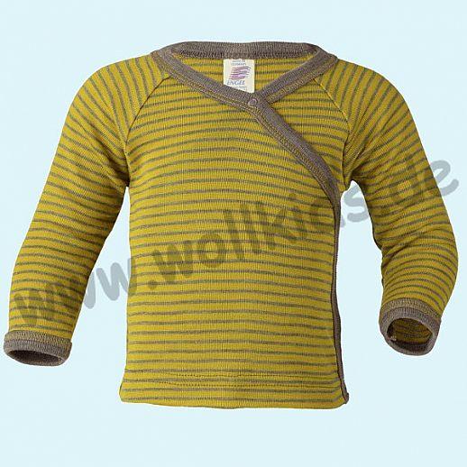 NEU: Engel Babyshirt Wickelshirt Wolle Seide BIO GOTS safran = curry - walnuß