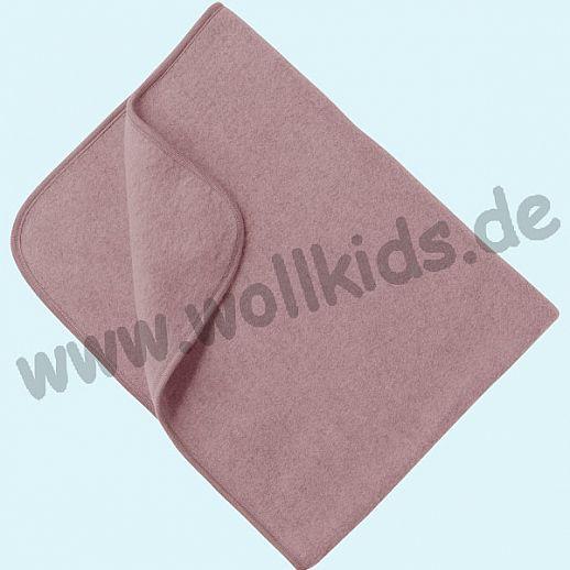 Engel Wollfleece Decke kbT Merino-Wolle Merinowolle Fleece rosenholz melange rosa