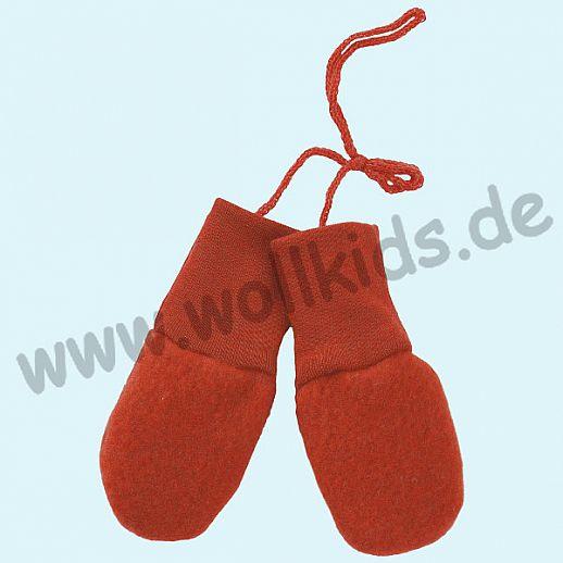 NEU: Engel Wollfleece Baby Handschuhe Merinowolle Fleece hibiscus
