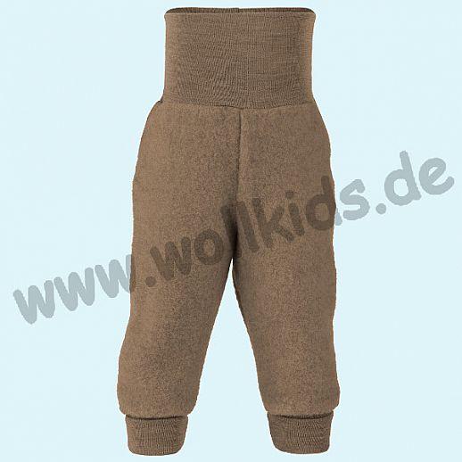 Engel Schurwoll-Fleece Hose mit Yogabund walnuß melange kbT Merino-Wolle