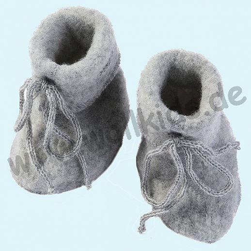 NEU: Engel Wollfleece Baby Schuhe Babyschuhe Merinowolle Fleece grau melange