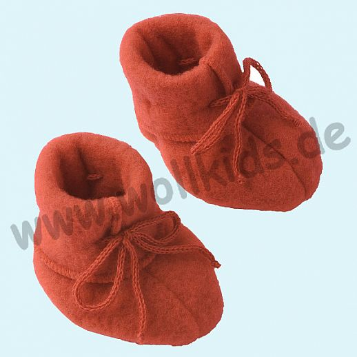 NEU: Engel Wollfleece Baby Schuhe Babyschuhe Merinowolle Fleece hibiscus