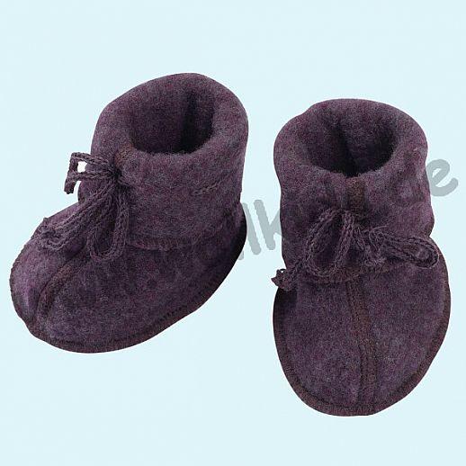NEU: Engel Wollfleece Baby Schuhe Babyschuhe Merinowolle Fleece lila melange