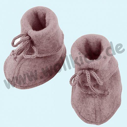 NEU: Engel Wollfleece Baby Schuhe Babyschuhe Merinowolle Fleece rosenholz melange