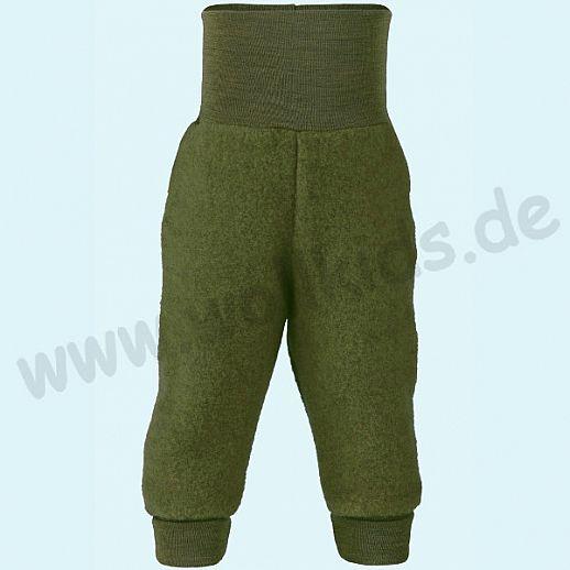 Engel Schurwoll-Fleece Hose mit Yogabund schilf melange kbT Merino-Wolle