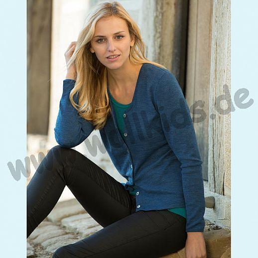 ENGEL: Damen Cardigan - Urban Eco Style - Wolle saphir blau BIO
