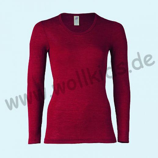 ENGEL: Damen Langarm Hemd - LA Hemd - Wolle Seide malve BIO