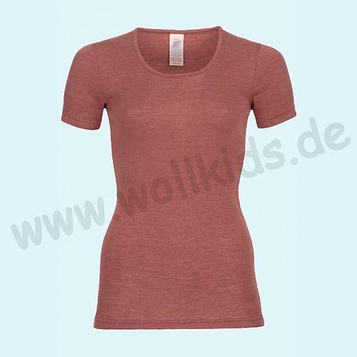 ENGEL: Damen Kurzarm Hemd - KA Hemd - Wolle Seide kupfer BIO