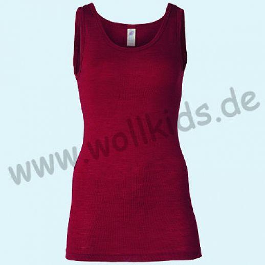 ENGEL: Damen Trägerhemd - Hemd - Wolle Seide malve BIO