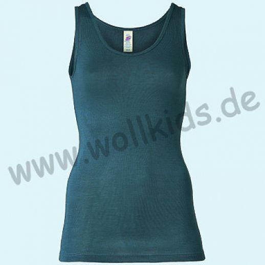 ENGEL: Damen Trägerhemd - Hemd - Wolle Seide atlantik BIO