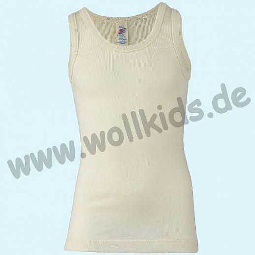 Maschinenwaschbar Engel Kinder Achselhemd Hemd Wolle Seide natur