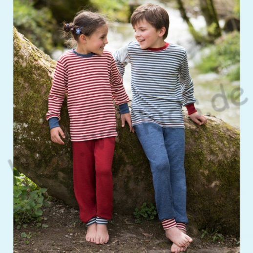 NEU: Engel Kinder Pulli Pullover kbT Wolle rot natur oder blau natur - WASCHBAR
