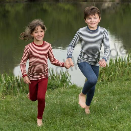 NEU: Engel Kinder Unterhemd kbT Wolle rot natur oder blau natur - WASCHBAR