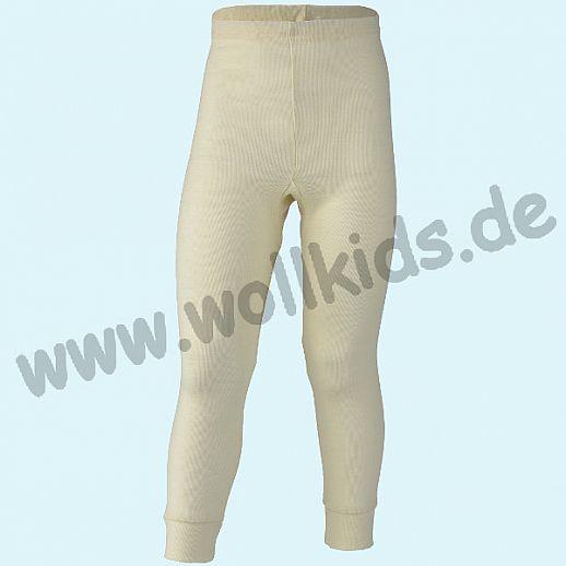 Engel Kinder Leggin kbT Wolle lange Kinder Unterhose Schurwolle natur