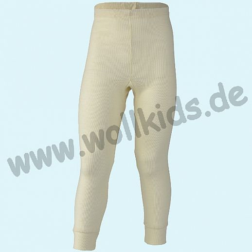 Engel Kinder Leggin kbT Wolle lange Kinder Unterhose Schurwolle Seide natur