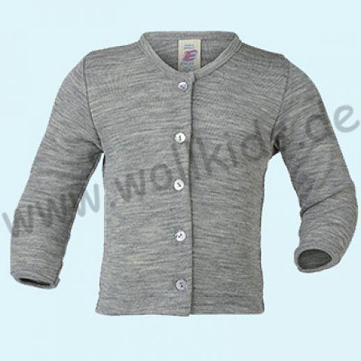 Maschinenwaschbar Engel Cardigan für Kinder Wolle Seide traumhaft grau