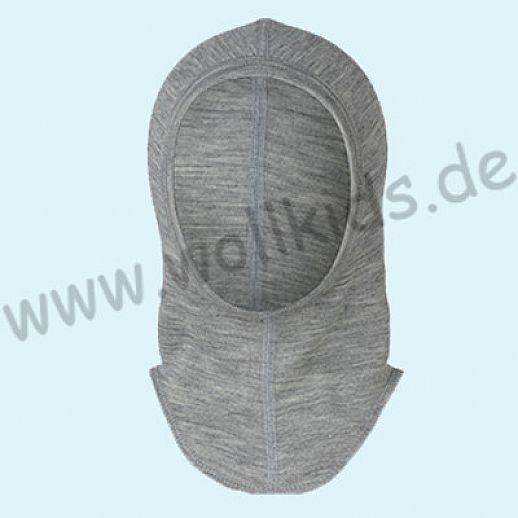 NEU: ENGEL Baby Mütze Unterziehmütze Strumhaube SchlupfmützekbT organic GOTS Merino-Wolle Seide grau melange