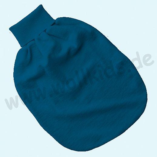 Engel Wollfrottee Strampelsack Pucksack kbT Merino-Wolle Merinowolle Frottee blau