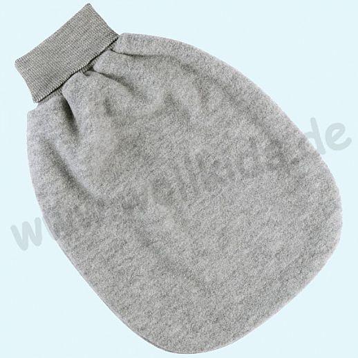 Engel Wollfleece Strampelsack Pucksack kbT Merino-Wolle Merinowolle Fleece hellgrau melange