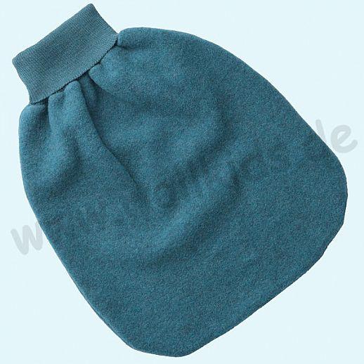 Engel Wollfleece Strampelsack Pucksack kbT Merino-Wolle Merinowolle Fleece petrol melange