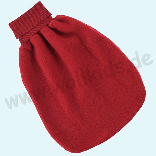 Engel Wollfleece Strampelsack Pucksack kbT Merino-Wolle Merinowolle Fleece kirschrot