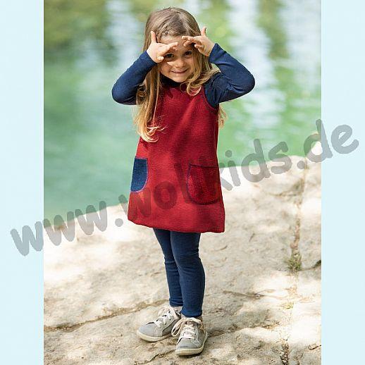 Engel Schurwollfrottee Kleidchen Kleid rot melange kbT Merino-Wolle