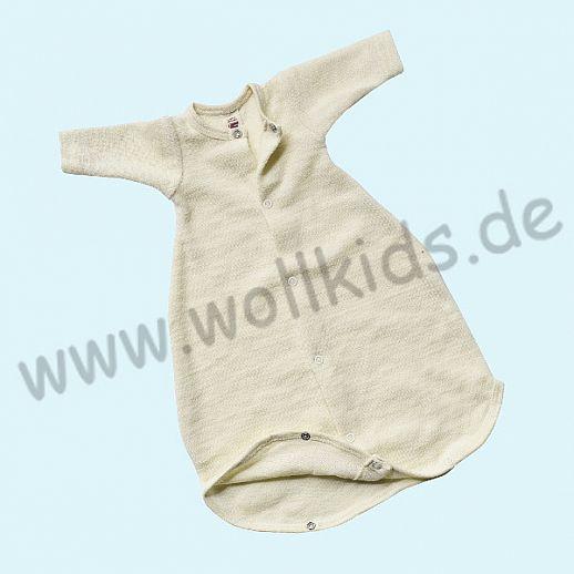 Frühchen: Engel Schurwollfrottee Schlafsack Schlafi natur kbT Merino-Wolle