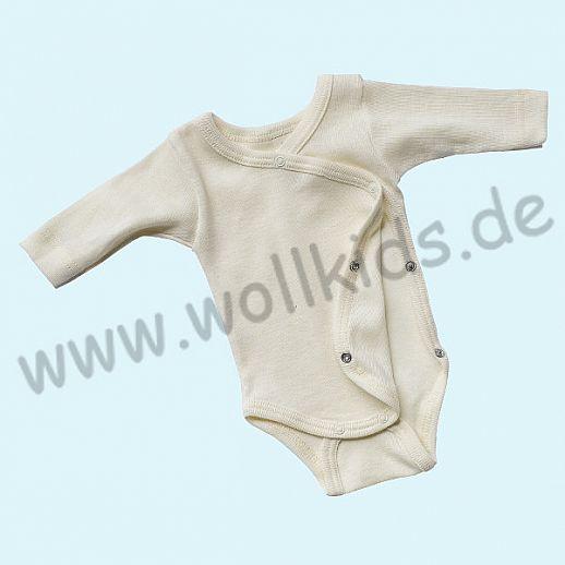 Engel Wickelbody Wolle/Seide natur - für Frühchen oder kleine Babys