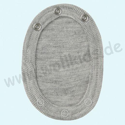 3er Pack - Engel Baby Body Bodyverlängerung Wolle Seide kbT BIO Organic hellgrau