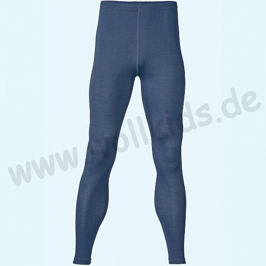 ENGEL: Herren Leggin - lange Unterhose - Wolle Seide marine BIO