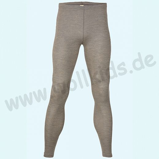 ENGEL: Herren Leggin - lange Unterhose - Wolle Seide walnuß BIO